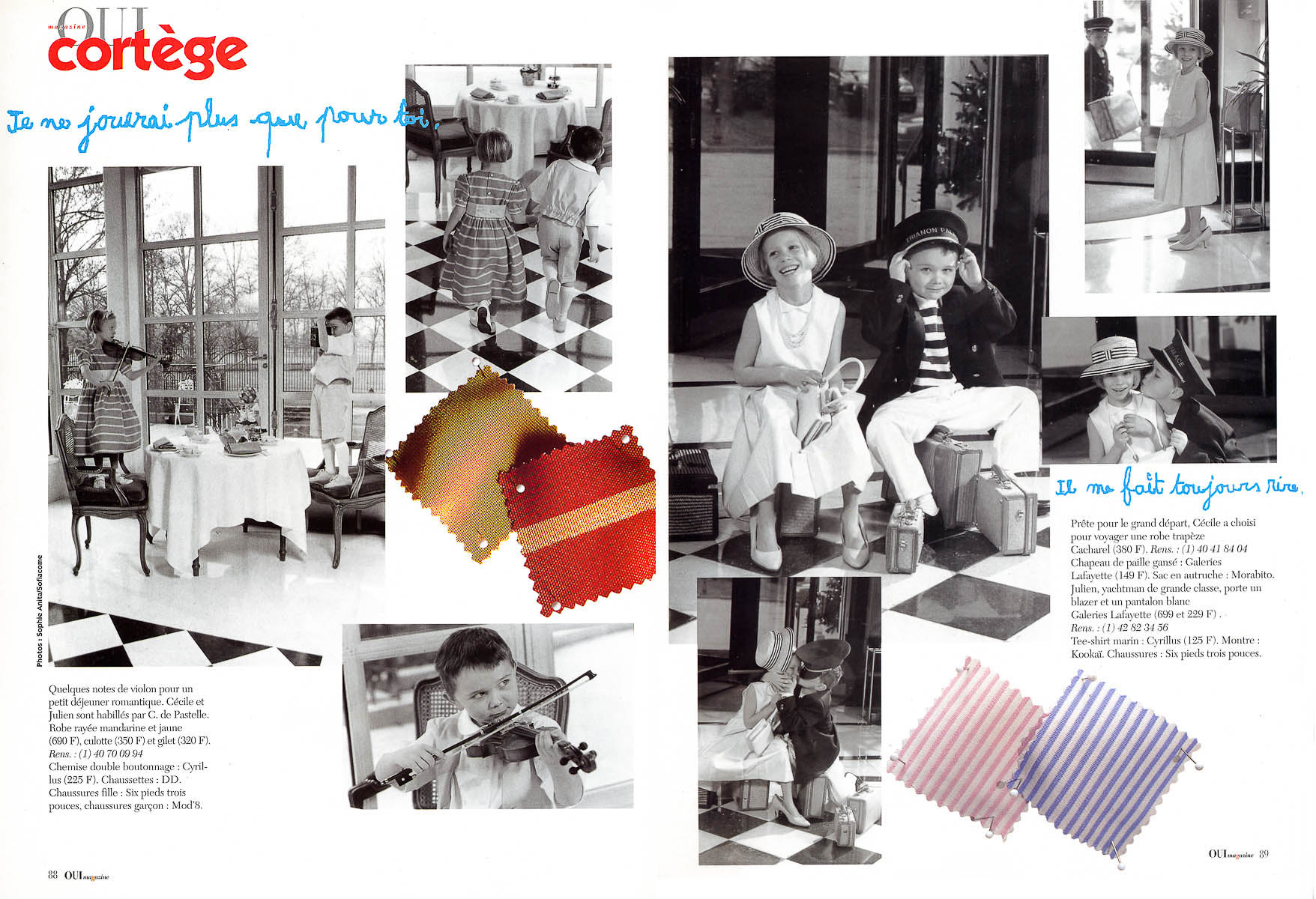Sélectionnée par Oui Magazine pour des photos de mode