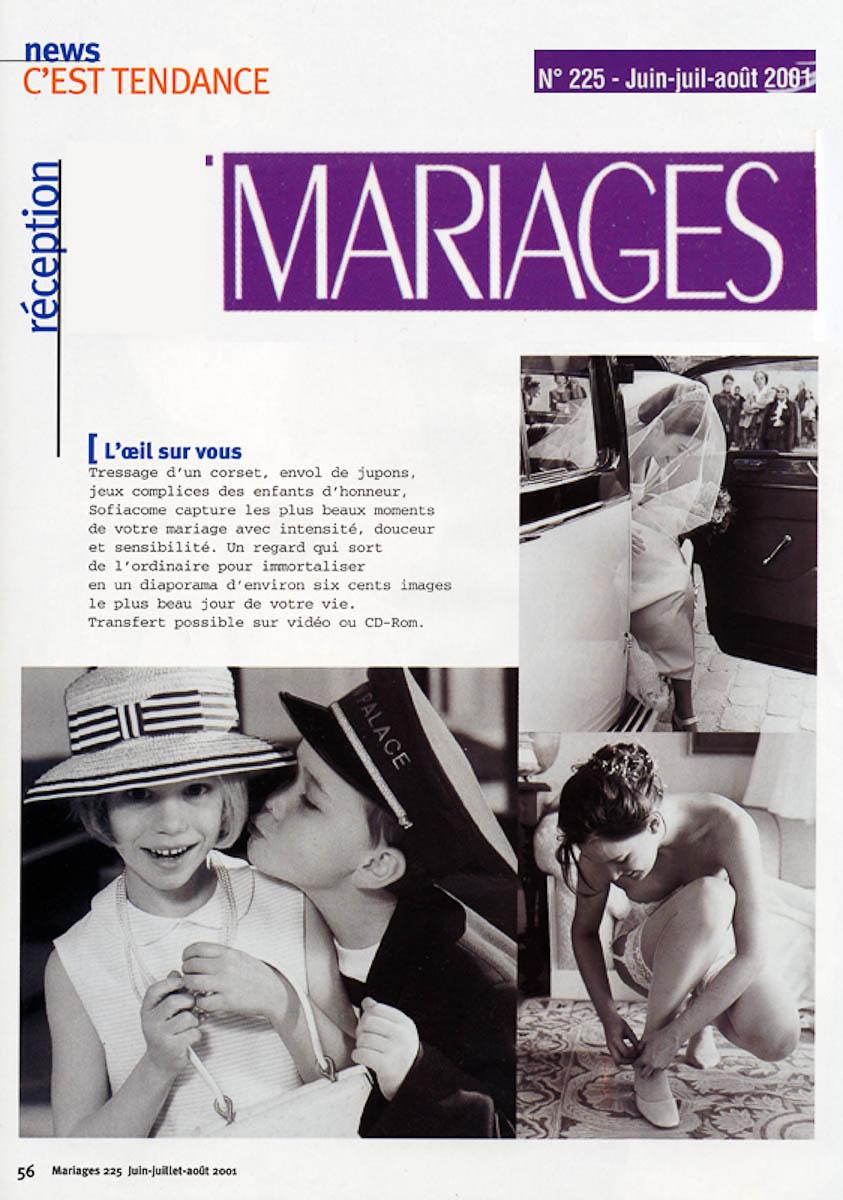 Sélectionnée par le magazine Mariage