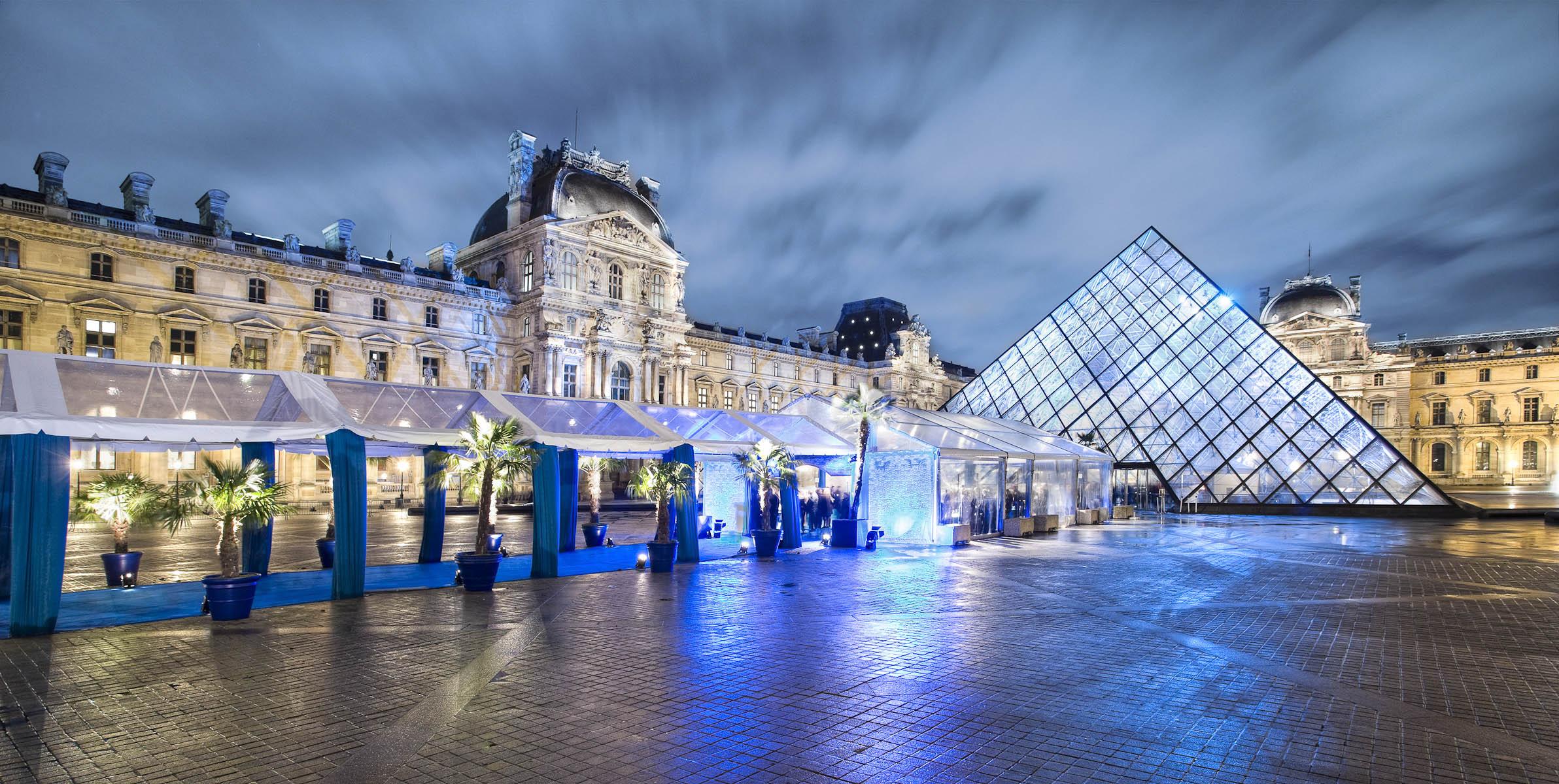 Photographe de Vue Panoramique : Pyramide du Louvre