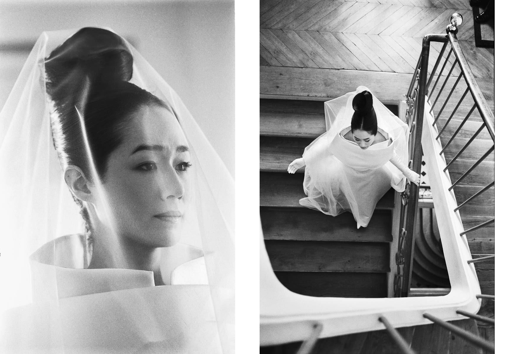 L'élégance du mouvement, par Sofiacome, Photographe de l'habillage des mariés