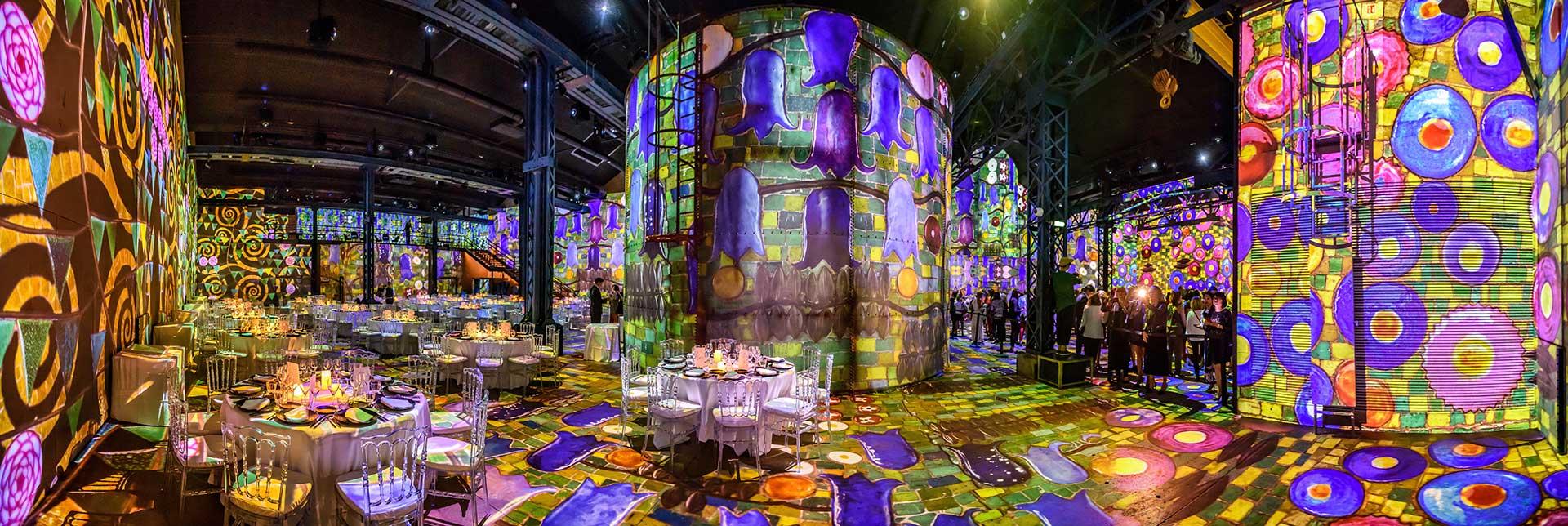 Photographe de L'Atelier des Lumières - Exposition Hundertwasser